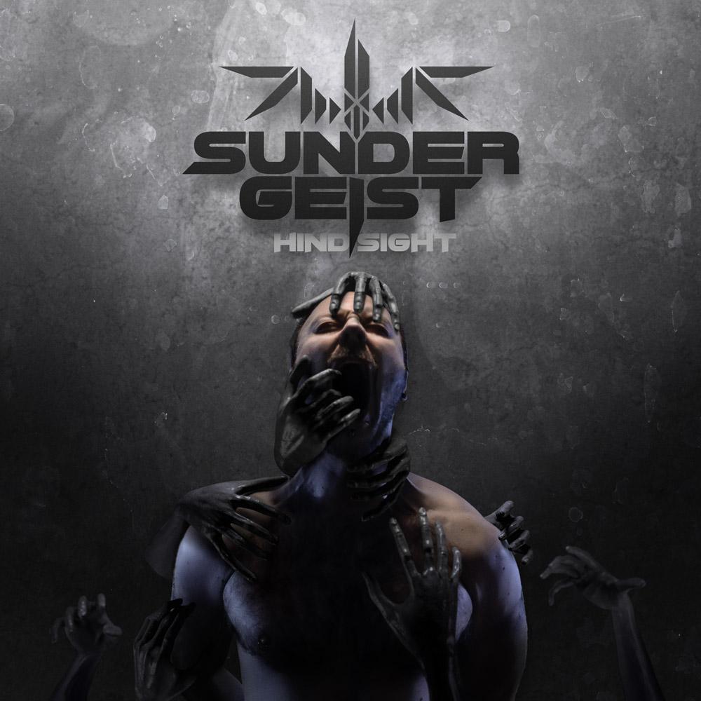 Sundergeist Hindsight album front cover Ric dark hands reaching
